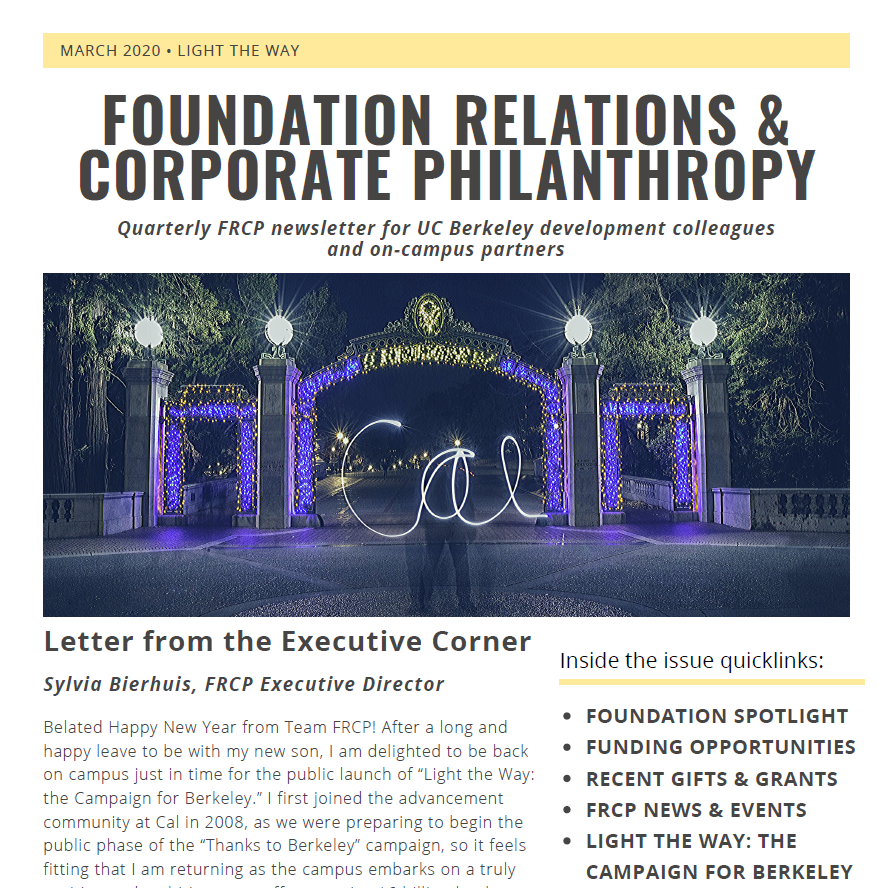 FRCP Spring Newsletter